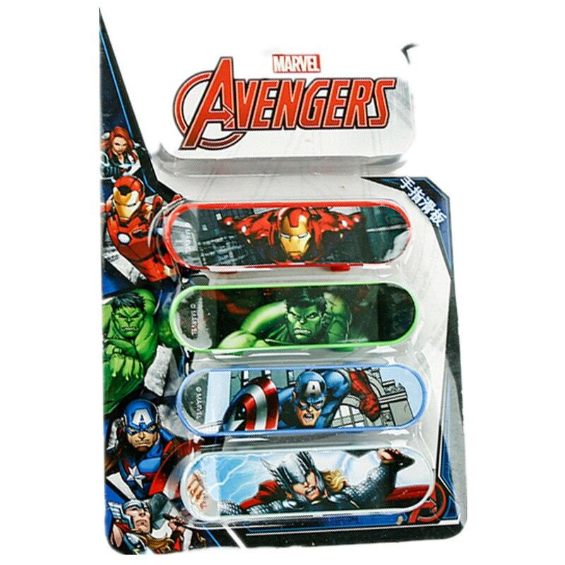 Disney Marvel 4pcs Avengers Age Ultron Plastic Kids Sports Toys Game Mini Speed Finger Board Skateboards For Boys Children Gifts