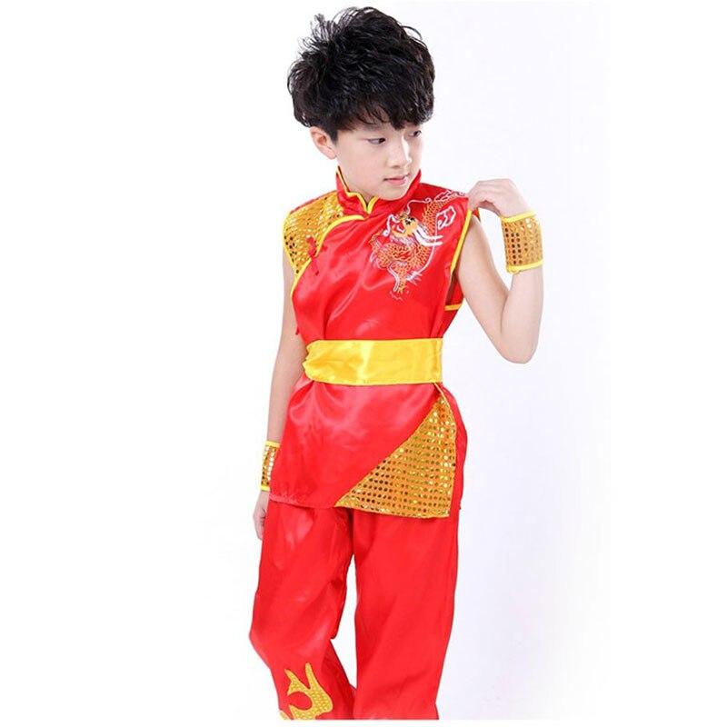 Boy Tae Kwon Do Kids Wushu Boy Chinese Traditional Clothing China Kungfu Suit Kung Fu Uniforms For Boys China Kungfu Costumes