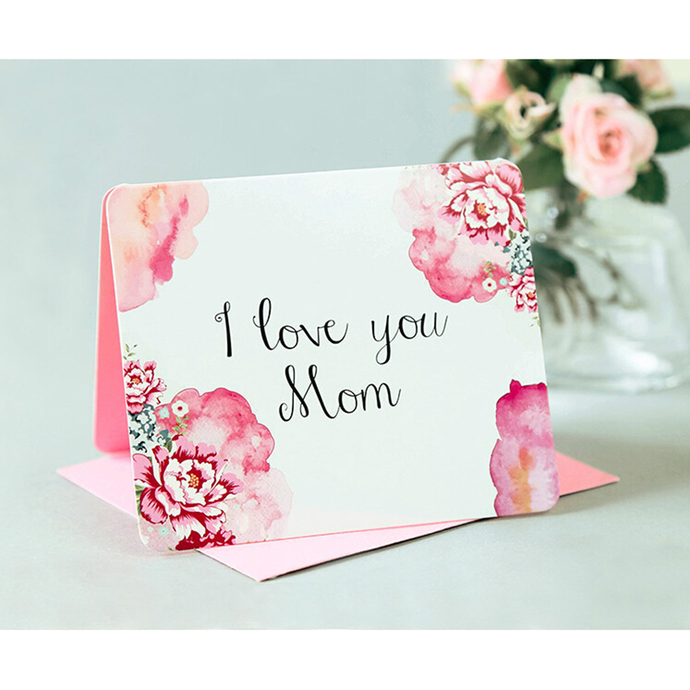 I Love You Mom Greeting Card Mothers Day Birthday Card For Moms