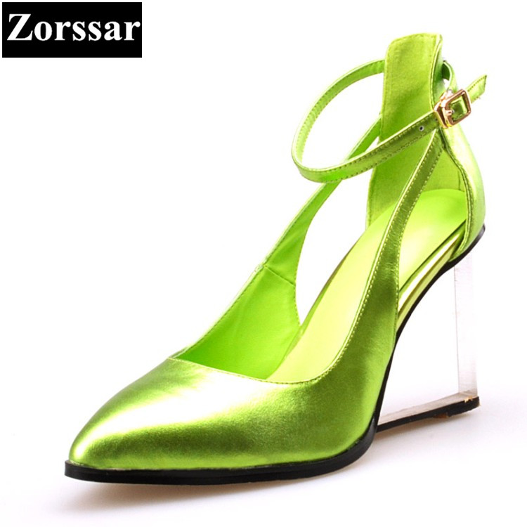 Womens shoes Pointed Toe high heels pumps Women Work shoes Green, silver, red 2017 NEW Fashion comfort wedges woman heels shoes plus size 34 49 new spring summer women wedges shoes pointed toe work shoes women pumps high heels ladies casual dress pumps