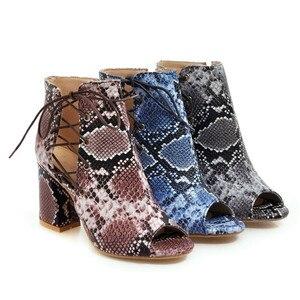 Image 5 - Morazora 2019 nova chegada botas de verão peep toe sapatos de salto alto rendas acima + zip moda senhora botas confortáveis botas de tornozelo feminino