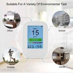 D9-H PM2.5 Tester gazu detektor jakości powietrza miernik HCHO i TVOC miernik CO2 Monitor Tester formaldehydu z akumulatorem