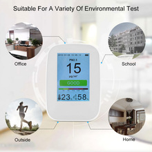 Digital Air Quality Detector Meter Indoor/Outdoor HCHO & TVOC CO2 Meter Monitor Formaldehyde Tester With Rechargeable Battery цены