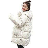Зимняя куртка для женщин 2018 парка пальто для будущих мам с капюшоном Женская куртка Толстая хлопковая подкладка зимние женские пальт