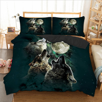Roar Wolf Bedding Set Duvet Cover Bed Cover Quilt Cover Pillow Cases Twin Full Queen King Double Super King Animal Bedclothes