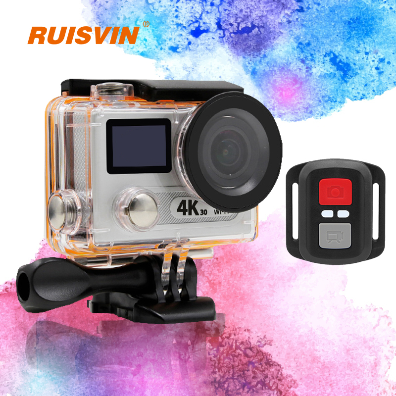 "H8R Remote Action Camera Ultra 4K WiFi HD Helmet Cam 2.0""Dual LCD HD 170 Lens go Waterproof pro Sport DV Camera With 2.4G Remote"