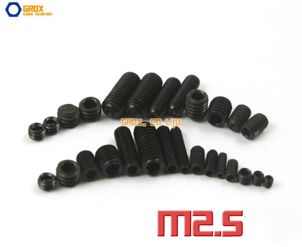 M2.5 Grub Screws Cup Point Hex Socket Set Screw 12.9 Grade Alloy Steel m5 grub screws cup point hex socket set screw 12 9 grade alloy steel