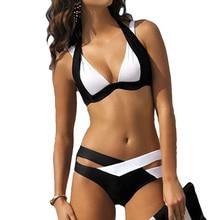 KINGTUT сексуальный крест комплект бикини Мягкий Push Up для женщин плавание одежда белый черный летний ванный купальник Maillot De Bain