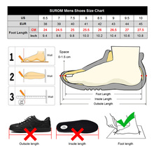 SUROM Brand Fashion Sneakers Leather Casual Shoes Men Breathable Classic Black White Male Shoes Krasovki Spring Summer Sneakers