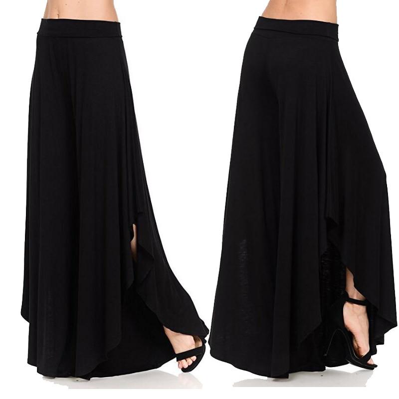 2019 Summer   Pants   Trousers Women Stretch High Waist   Pants   Joggers Women Plus Size Women Black   Pants   Loose   Wide     Leg     Pants   Female