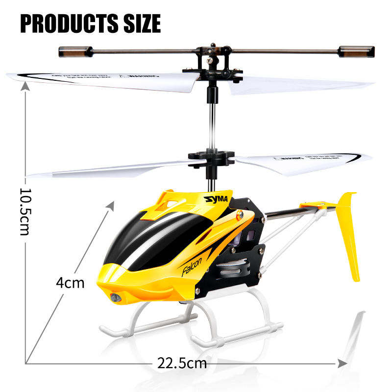 Image 2 - 100% Original SYMA W25 2CH Indoor Small RC Electric Aluminium Alloy Drone Remote Control Helicopter Shatterproof boys toys-in RC Helicopters from Toys & Hobbies