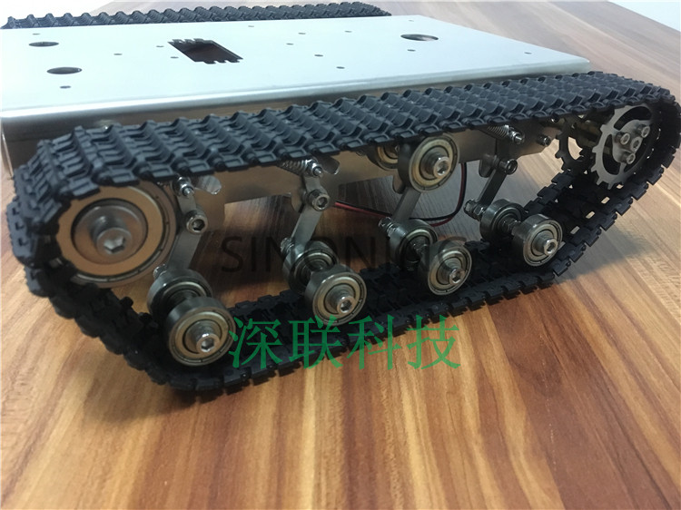 Stainless steel Robot Tank Chassis Platform shock absorber crawler suspension intelligent trolley SN4200 смеситель для кухни omoikiri nagano be 4994044
