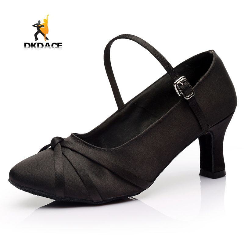 ФОТО New Arrival Women's Girl's Latin/Ballroom/Salsa Dance Shoes Med Heel Practice Shoes Satin More Colors Free Shipping