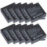 Wholesale 10pcs Lot 1400mAh Xiaomi Yi 4K II AZ16 1 Rechargeable Batteries For XiaoYi 4K 2