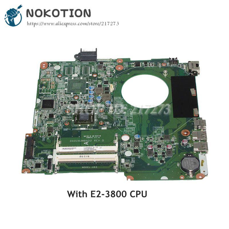 Hp Pavilion 15-F NOKOTION ANA KURULU Laptop Anakart DA0U93MB6D2 E2-3800 CPU Teknede DDR3Hp Pavilion 15-F NOKOTION ANA KURULU Laptop Anakart DA0U93MB6D2 E2-3800 CPU Teknede DDR3