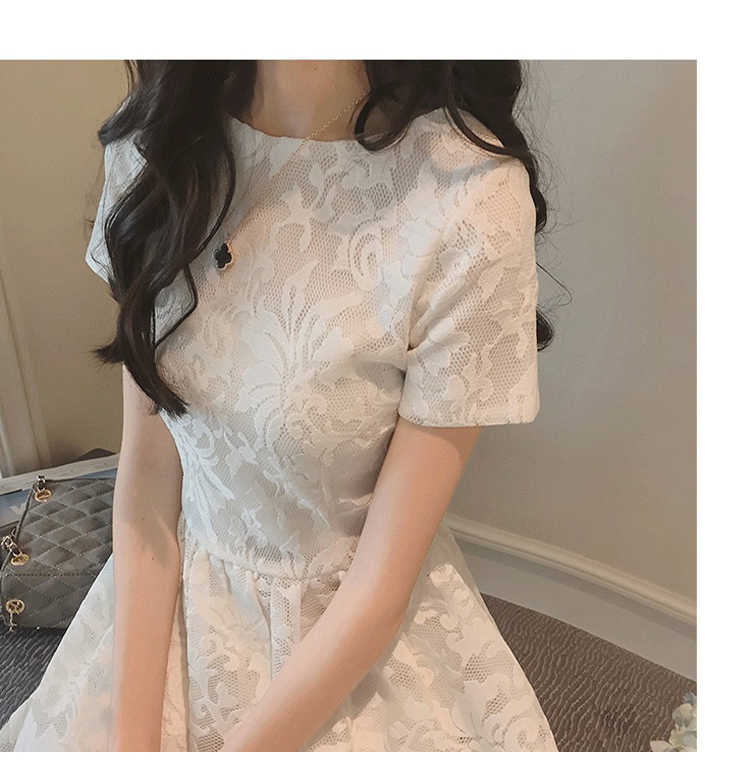 2019 แขนสั้นลูกไม้สีขาวดอกไม้สีดำหญิงชุดบอลชุดเครื่องแต่งกายวัยรุ่น 14 15 ปีสาวใหญ่ชุด
