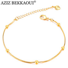 AZIZ BEKKAOUI Simple Style Gold Color Chain Link Bracelets for Women Ladies Heart Charms Bracelets & Bangles Femme Gift(China)