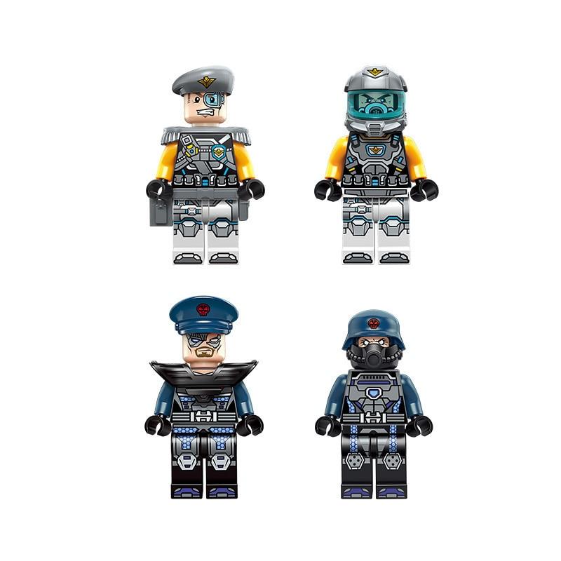 675pc edukacyjne klocki dla dzieci zabawki kompatybilny Legoingly miasta technologii era black shark cruiser wysłać figurki cegły w Klocki od Zabawki i hobby na  Grupa 2