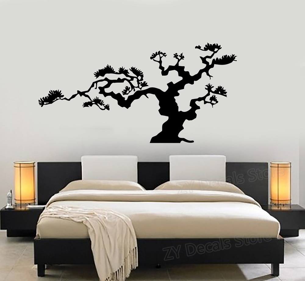 Japanese Bonsai Tree Nature Decor Wall Sticker Vinyl Decal