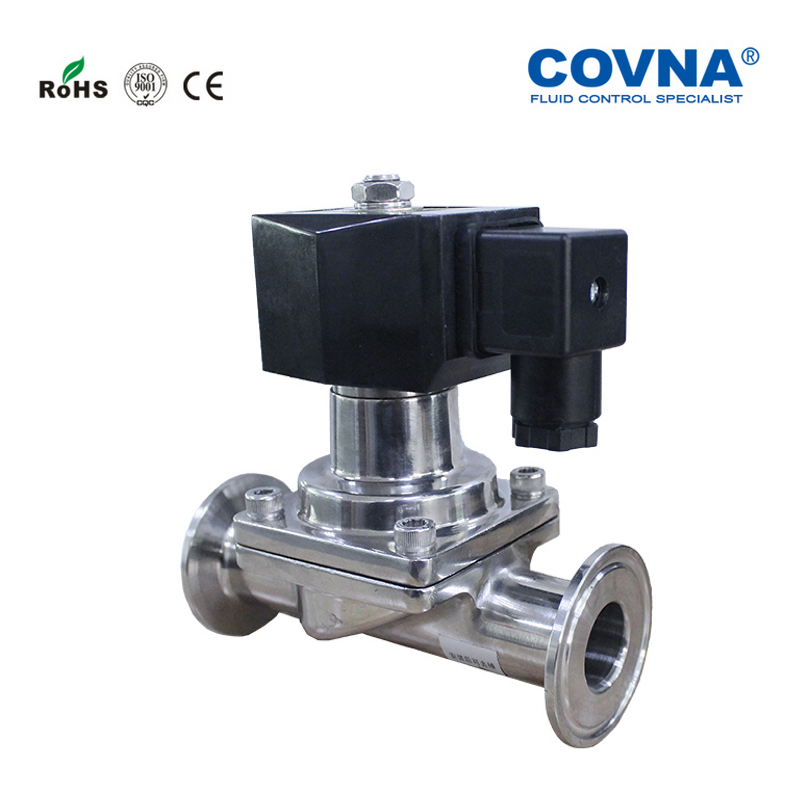 Stainless Steel 304 DN15 Sanitary Solenoid Valve Normally Closed 1 2 inch Tri Clamp Solenoid Valve