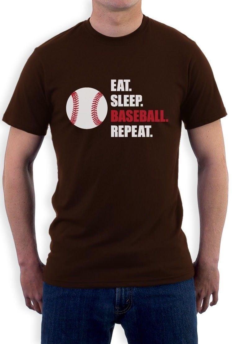 On Sale New Fashion Summer Eat Sleep Baseball Repeat Cool Gift for Baseball Fans T-Shirt Cool