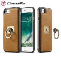 CaseMe For IPhone 7 7 Plus Luxury Leather Retro Phone Cases Stand Flip Magnetic Cover Back