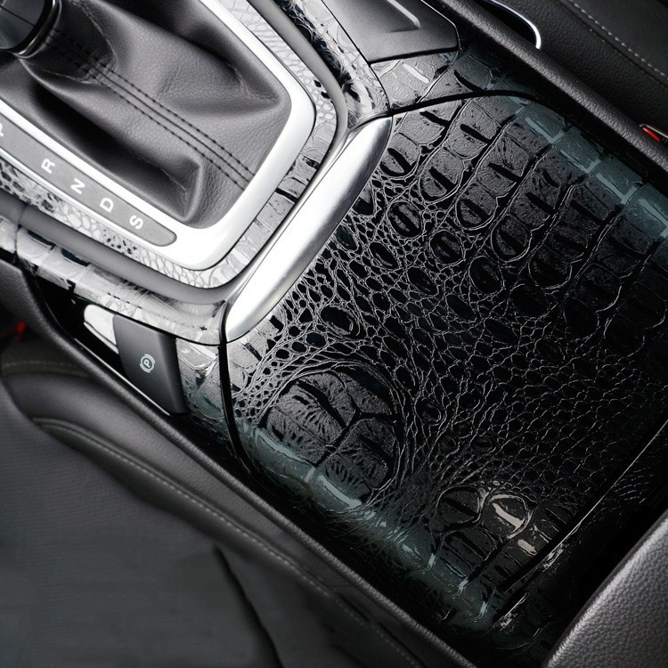 Animal Skin Film Crocodile Vinyl Wrap Film Automobiles Motorcycle For Car Decal Car Styling Computer Cover