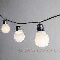 Novelty 6M 20 LED G45 Globe Festoon Party Ball String Lamps Led String Bulb Lights Christmas