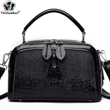 Luxury Crocodile Pattern Genuine Leather Handbag High Quality Cow Leather Shoulder Bags Ladies Tote Bag Crossbody Bags for Women pyaterochka new 2018 genuine leather handbag for women high quality luxury shoulder bags ladies business satchels brown tote bag