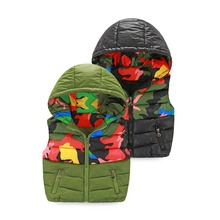 Fashion autumn and winter kids boys vest Brand new thick cotton-padded heat youngsters vests waistcoats