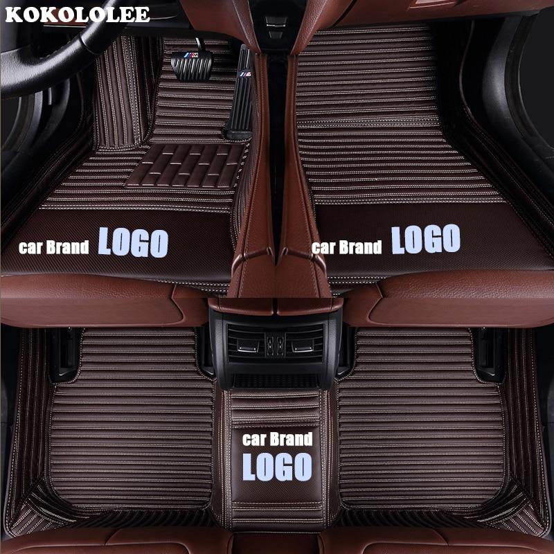 Image 2 - kokololee car floor mats for Volkswagen LOGO vw up CC passat b5 b6 b7 b8 polo golf 4 5 6 tiguan jetta touran touareg car styling-in Floor Mats from Automobiles & Motorcycles