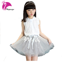 Girls Dress Summer 2017 Small Beauty Brand New Children Girls Clothing Sets Summer Lace Design For