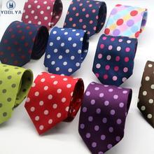 11 цветов роскошный мужской s галстук 8 см горошек Шелковый вязаный жаккардовый галстук шеи галстуки галстук для мужской формальный деловой свадебной вечеринки
