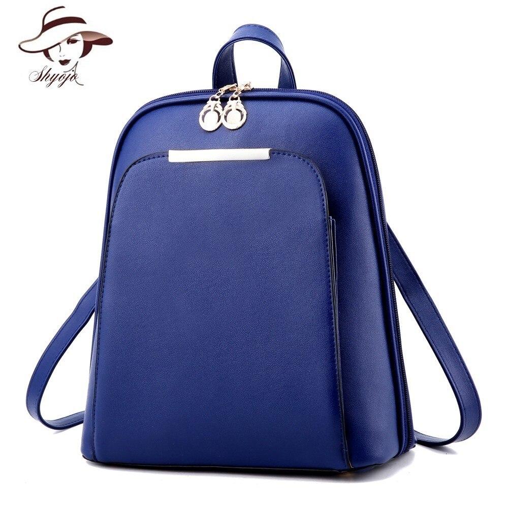 Solid Color Casual Women School Bag Backpack Shoulder Bags For Teenager Girls Book Bag Leather Mochila Fashion Daypack Bagpack women backpack shoulder bag school bags for teenager casual solid backpack school mochila rucksack black color