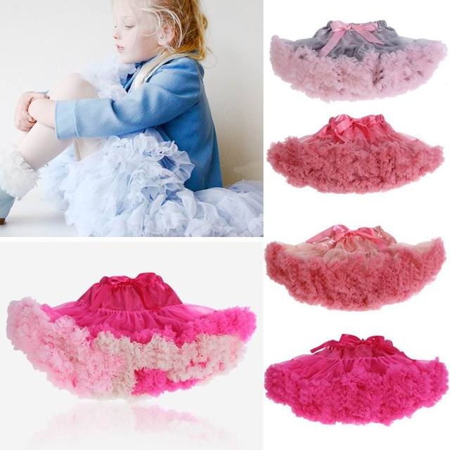 Girl TUTU Skirts 2 Layer Gauze Colorful pettiskirt Dance Skirt Children Clothing 0-10Y 13053