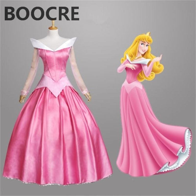 Halloween Adult Princess Mermaid princess Ariel Pink Dress Cosplay Made Costume