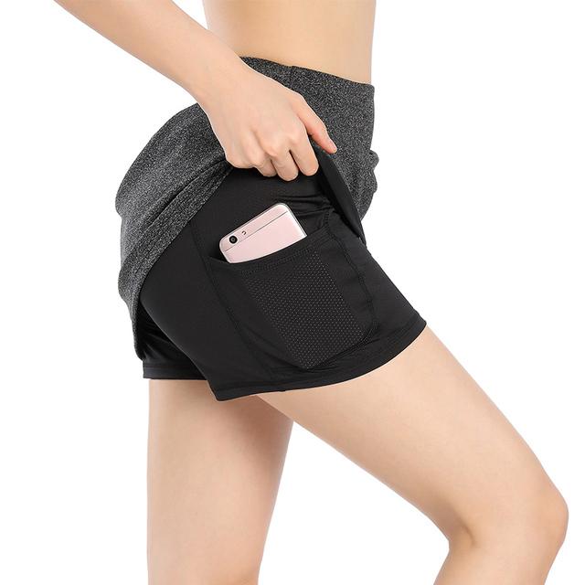 EAST HONG Women's Golf Tennis Skorts Running Sports Skirts