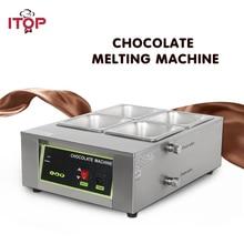 2016 Free Shipping Digital Chocolate Melting Machine Stainless Steel Chocolate Machine With 4 pcs pan