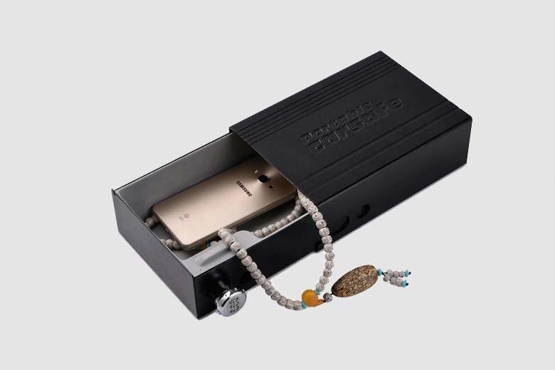 Car Safes Portable Safe Box Password Lock Safes Jewelry Cash Pistol Storage Box Aluminum alloy Security Strongbox Cable Fixed (23)