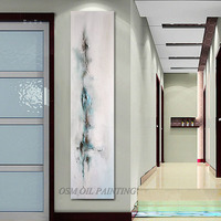 New Design Long Size Abstract Oil Painting for Wall Decoration Hand-painted Long Size Modern Abstract Oil Painting for Home