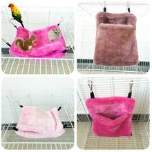 Новая теплая кровать гамак для крысы белка зимние игрушки для домашних животных хомяк клетка дом подвесное гнездо 0411