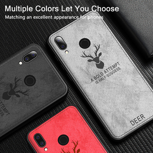 Keajor Fashion Case For Huawei P20 Lite Soft Fabric TPU Silicone Bumper Ultra-thin Shockproof Back Cover For Huawei P20 pro Case