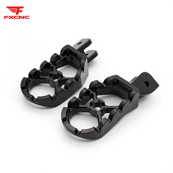 Black Aluminum Motorcycle Dirt Pit Pivot Bike Foot Pegs Footpegs Footrests Foor Rest Pedals Set For Ducati Scrambler All Years