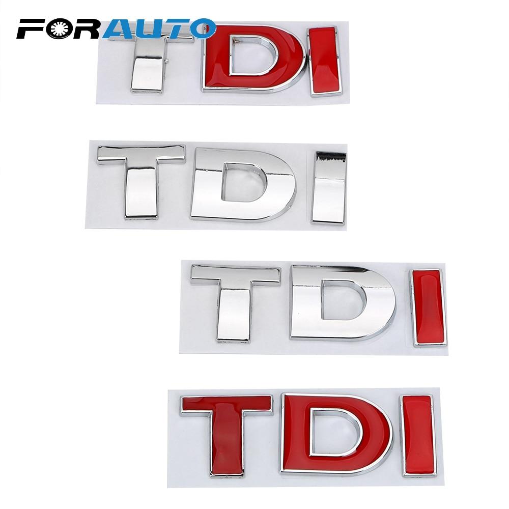 FORAUTO Reflective Car Sticker For VW Golf JETTA PASSAT MK4 MK5 MK6 Decal Emblem Badge 3D Metal Turbo Direct Injection TDI Logo