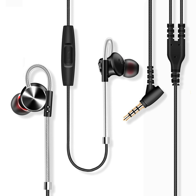 W3 Original Metal Magnetic Earphones Super Bass Stereo HiFi Headset Sport Running Ear Hook Earbuds Headphones with Mic