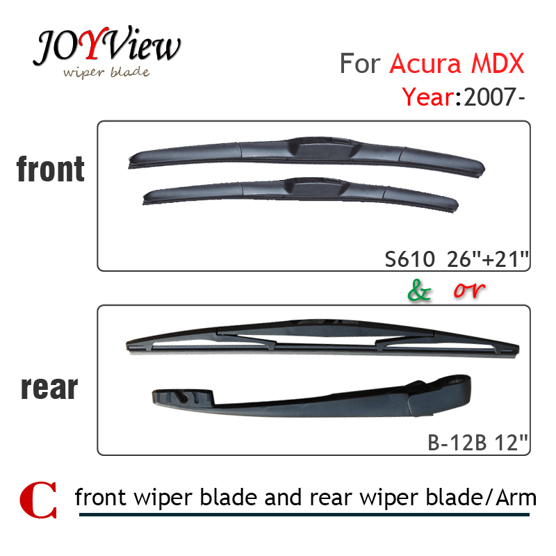 S610 Front Wiper Blade And RearWiper Arm Blade For Acura