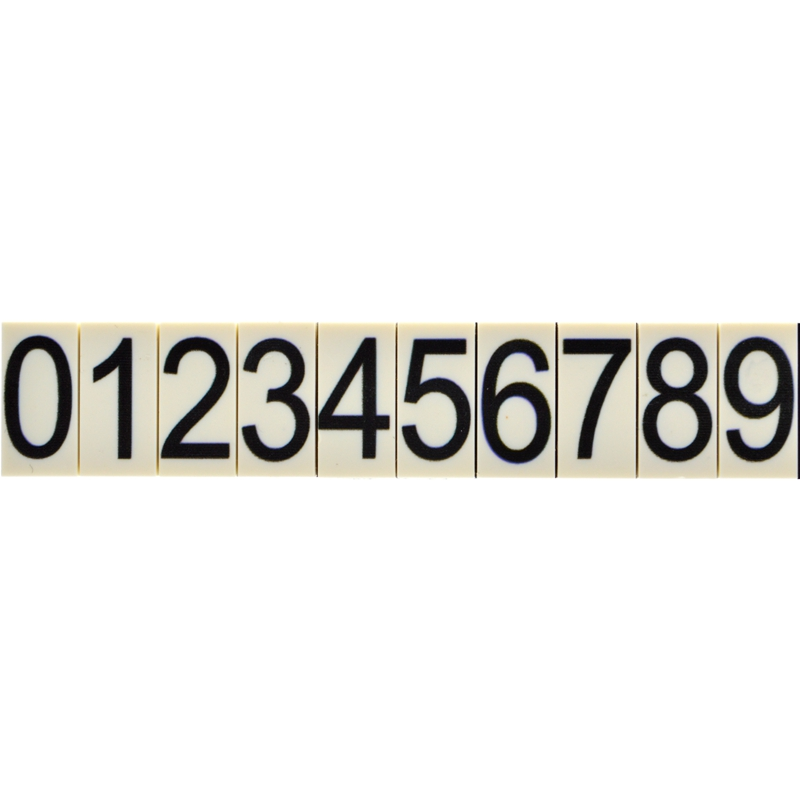 10pcs/lot 1*2 Tiles Printed Number Plates Customized Phone Number MOC Parts Building Blocks Bricks Toys for Children
