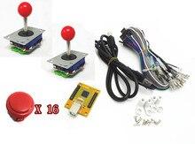 1 kit para el modelo 02 de Arcade al controlador USB 2 jugadores MAME Multicade Encoder Teclado con 30mm sin sonido de clic botón