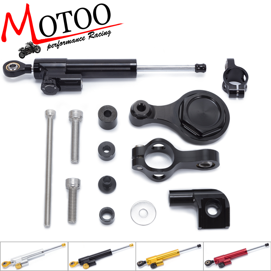 FREE SHIPPING For YAMAHA R1 R6 2006-2015 Motorcycle Steering Damper Stabilizerlinear Stabilizer linear Mounting Bracket Kit fxcnc aluminum motorcycle steering stabilizer damper mounting bracket support kit for yamaha fz1 fazer 2006 2015 2007 2008 09