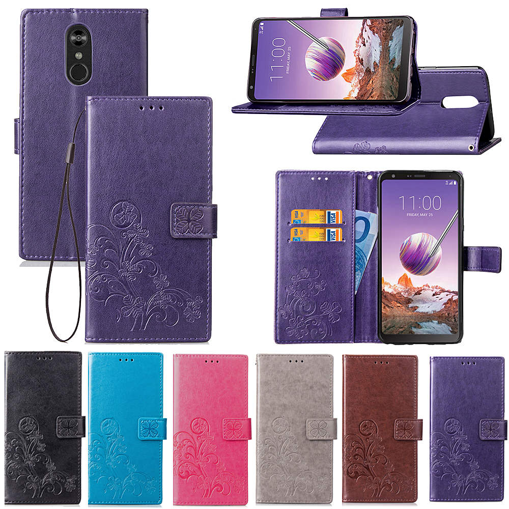 For Flip Wallet Case LG Stylo 4 Leather Cases for LG Stylo4 Soft